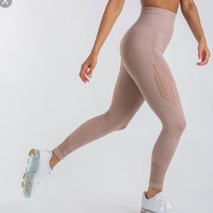Small Taupe Gymshark Energy Seamless Leggings